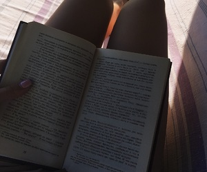 book, legs, and text image