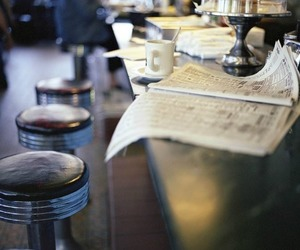 cafe and newspaper image
