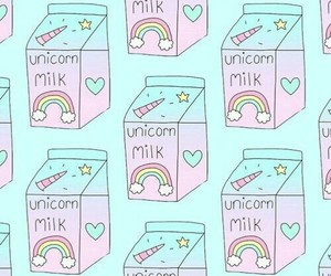 milk, unicorn, and wallpaper image