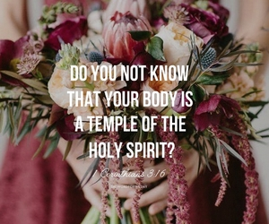 flowers, girl, and bible verse image