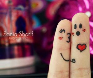 love, fingers, and heart image