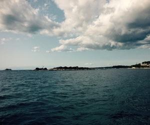 boat, clouds, and Croatia image