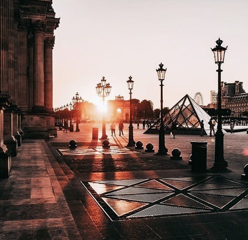 travel, louvre, and city image
