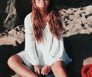 andrea russett, beach, and summer image