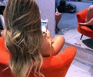 blonde, hair, and meninas image