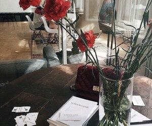 decor, desk, and apartment image