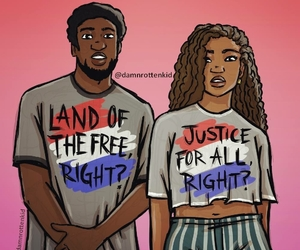 equality, justice, and blm image