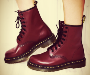 doctor martens and red image