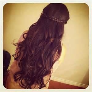 hair, long hair, and braid image