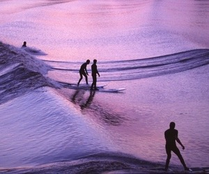 surf, purple, and sea image