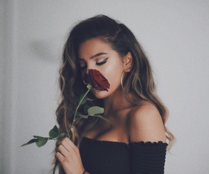 art, brunette, and clothing image