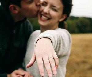 engagement ring and love image