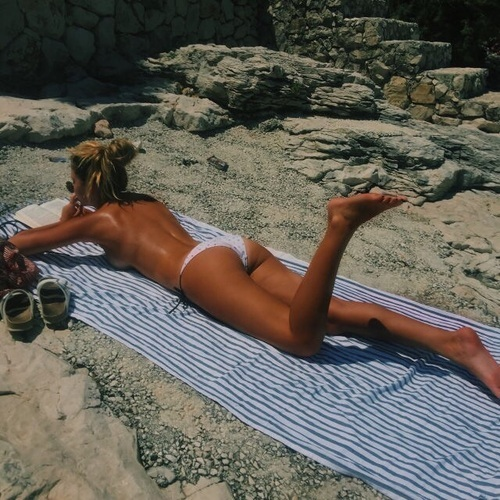 bikini, summer, and body image