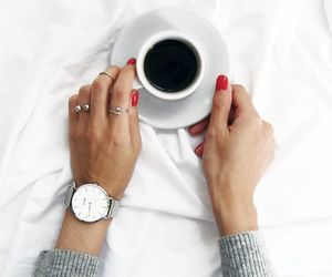coffee, nails, and white image