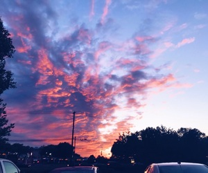 beautiful, sky, and pink image