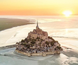 Mont Saint Michel, tumblr, and photography image