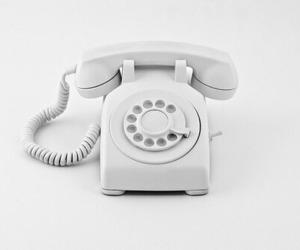 white and telephone image