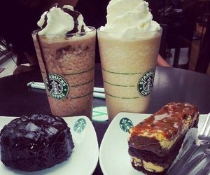 starbucks, food, and cake image