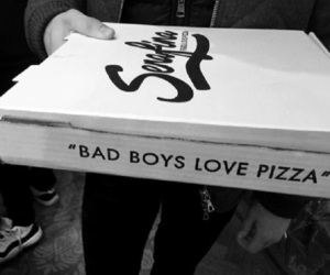 pizza, boy, and quotes image