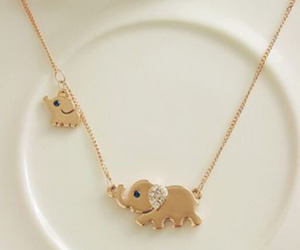 elephant, cute, and necklace image