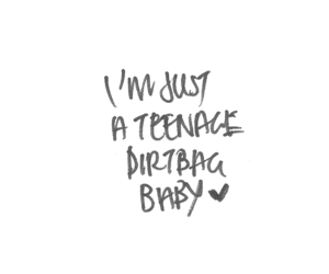 teenage dirtbag, one direction, and quote image