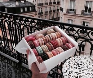 food, paris, and macaroons image