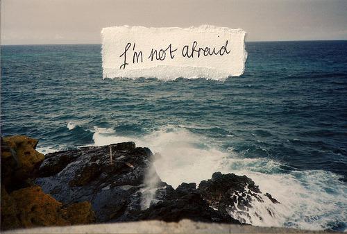 quote, afraid, and ocean image