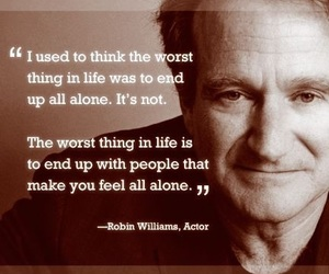 quote, robin williams, and rip image