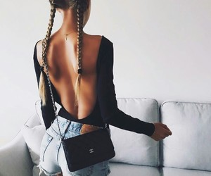 braids, clothes, and hair image