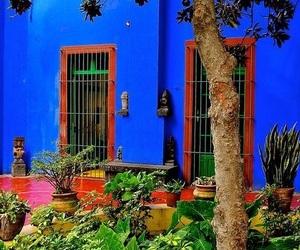 blue, house, and Frida image