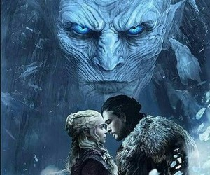 game of thrones, dragon, and wolf image