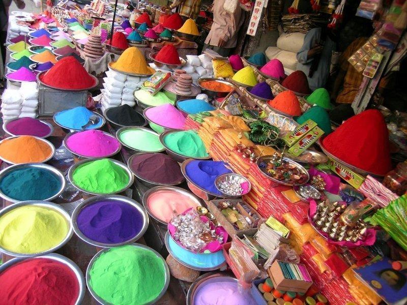 india, holi, and colors image