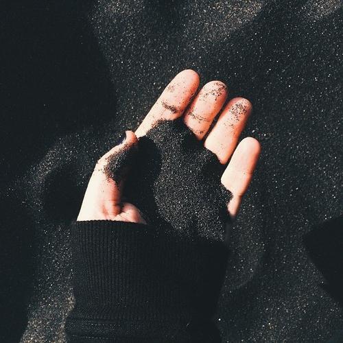 black, sand, and grunge image