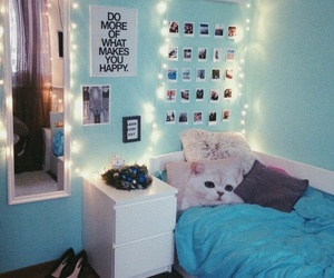 room, bed, and blue image