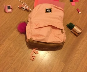 bag, pink, and back to school image