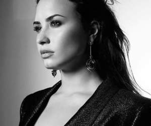 black, demi lovato, and hair image