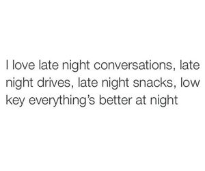 conversation, night, and snacks image