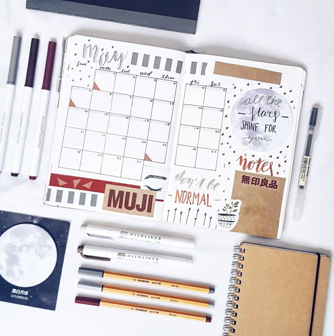 motivation, planner, and school image