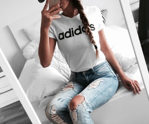 adidas, beauty, and braid image