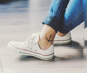 tattoo, converse, and anchor image
