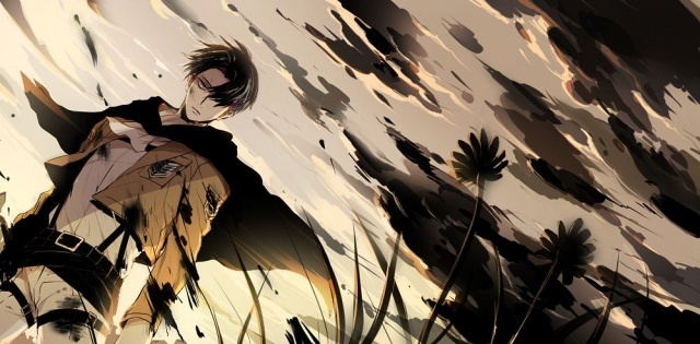 shingeki no kyojin, levi, and attack on titan image