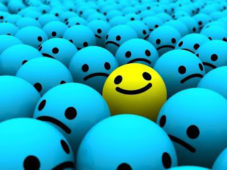 smile, happy, and blue image