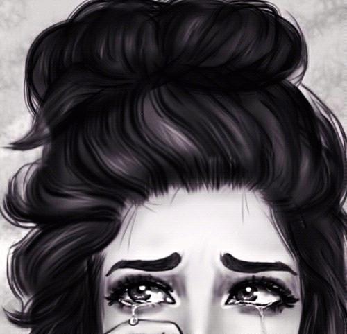 cry, sad, and art image