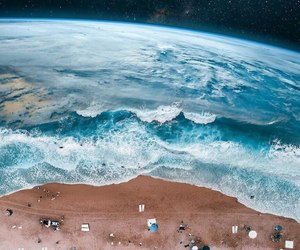 beach, art, and earth image