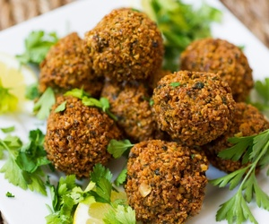 food, cheese, and meatballs image