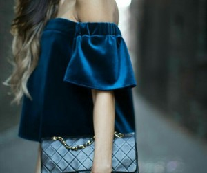 blue, look, and street style image