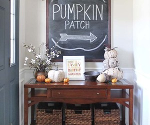 decor, entryway, and fall decorating image