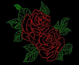 rose, wallpaper, and black image