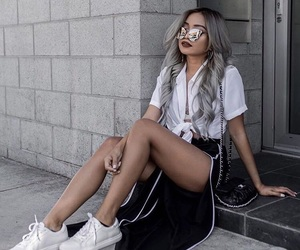 aesthetic, dyed hair, and style image