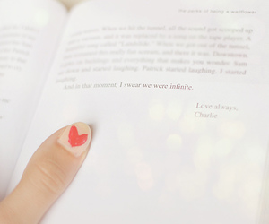heart, book, and love image